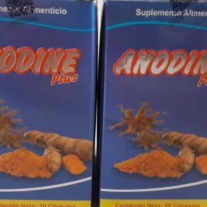 2 PACK ANODINE Plus 60 Pills Total- Colageno-Cicutilla-Curcuma-Glucosamina