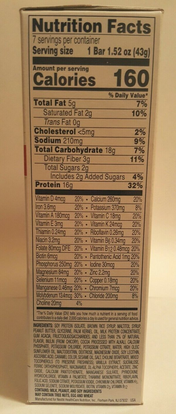 OPTIFAST 800 BARS - PEANUT BUTTER CHOCOLATE - 6 BOXES - 42 SERVINGS - FRESH 2