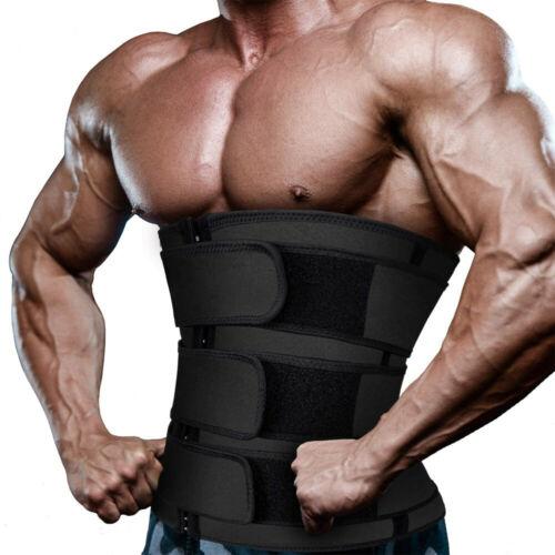 Men's Sweat Sauna Waist Trainer Weight Loss Neoprene Corset Cincher Body Shaper 2