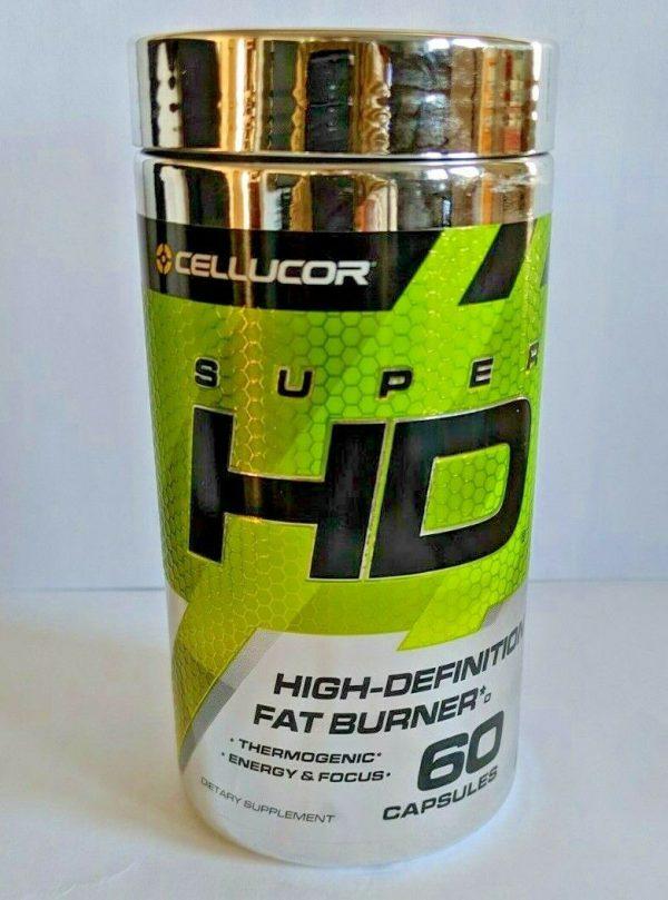 Cellucor SUPER-HD Hi-Definition Fat Burner Weight Loss Energy Focus 60 capsules.