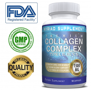 🔥 Premium Collagen Peptides Pills Hydrolyzed Anti-Aging (Types I,II,III,V,X) 🔥