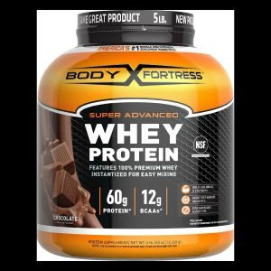 Body Fortress Whey Protein Powder, Chocolate, 60g Protein, 5 Lb