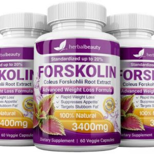 3 x Herbal Beauty FORSKOLIN 3400mg Maximum Strength RAPID RESULTS Pure Extract 1