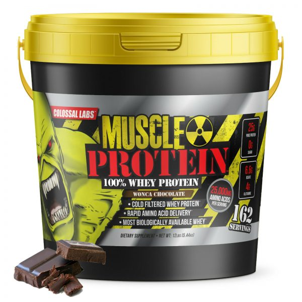 Colossal labs Whey Muscle Protein powder 12LB Isolate/Blend BULK 162 Servings 1