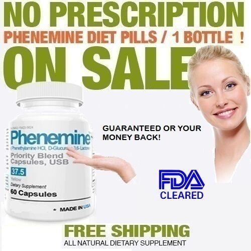 3 Phenemine Slimming Adipex Best Diet Pills Appetite Suppressant Supplement 37.5 7