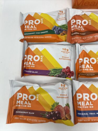 PROBAR Meal Bar Variety Pack Non-GMO Gluten-Free Healthy Plant-Based Exp 04/2021 1