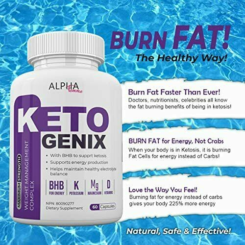 Alpha Femme Keto Genix - with BHB to Support ketosis - 60 Capsules - 800 MG 2
