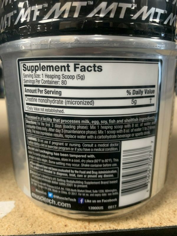 MuscleTech Platinum 100% Creatine Unflavored 400 Grams Fast Free Shipping 1