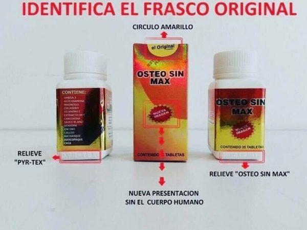 Osteo Sin Max, EL ORIGINAL! NO ACEPTE IMITACIONES! (Pyrtex) NATURAL PAIN KILLER 3
