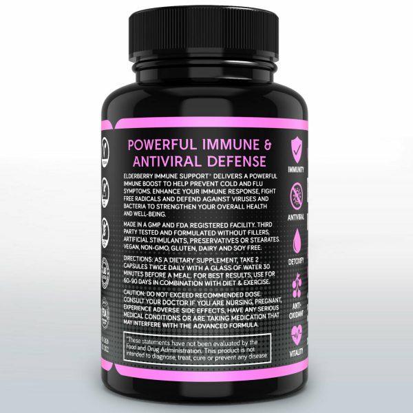 Elderberry Immune System Booster 1000mg Capsules Elderberry Sambucus 3
