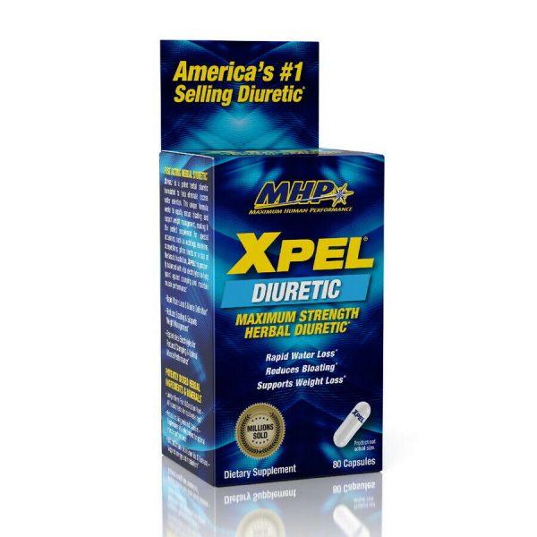 MHP Xpel Maximum Strength Diuretic Water Pills, Weight loss Support 80 Capsules