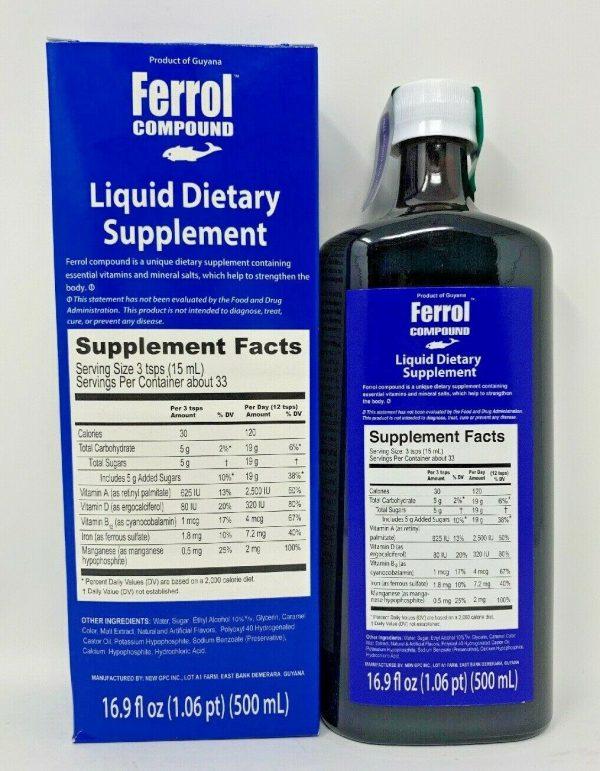 Ferrol Compound Dietary Supplement 16.5 oz (500 ml)