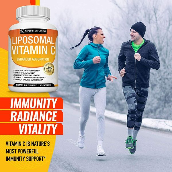 Liposomal Vitamin C 1800 MG Capsules (2 PACK) High Absorption Vitamin C Pills  6