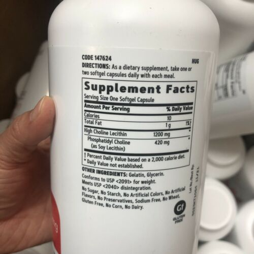 GNC Triple Lecithin 1200mg 180ct  Supports A Healthy Heart Liver Exp 11/2021 1