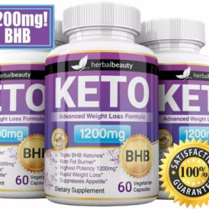 3 x Herbal Beauty KETO BHB 1200mg PURE Ketone FAT BURNER Weight Loss Diet Pills