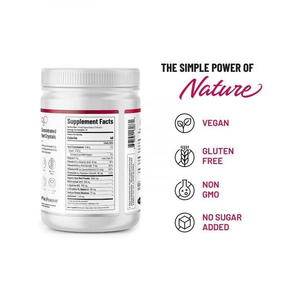 Organic Nitric Oxide Beets Root 306g: Super Food, Muscle, Heart Health - 2 Pack 6