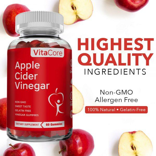 VCnature  Apple Cider Vinegar slimming Gummies ACV 60 Gummies   compare to goli 5