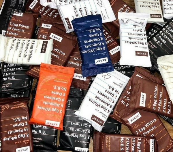 60 Assorted Flavor - RXBAR Whole Food - 12g Protein Bars Similar To Picture 1