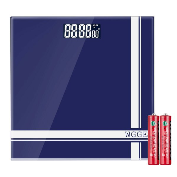 Digital Body Weight Scale,WGGE Bathroom Scale with Backlit LCD Display Max:400lb