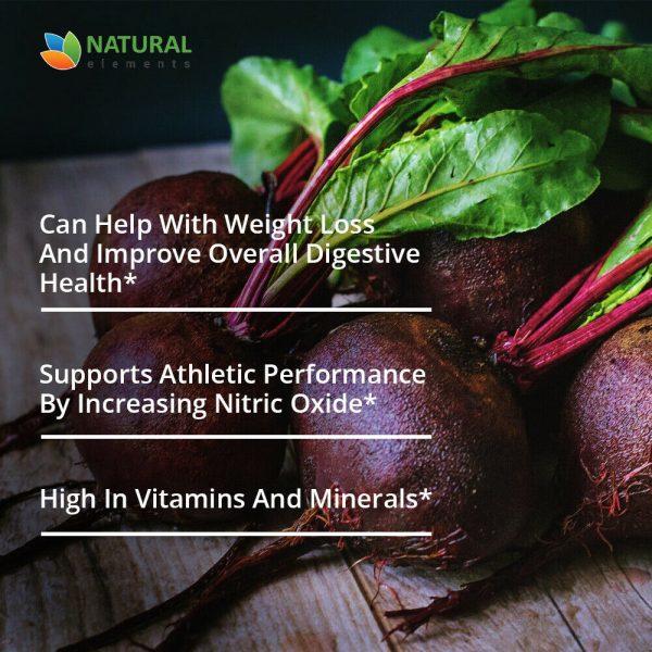 Organic Beet Root Capsules - 1200mg per serving - 200 Capsules - 3 Month Supply 3