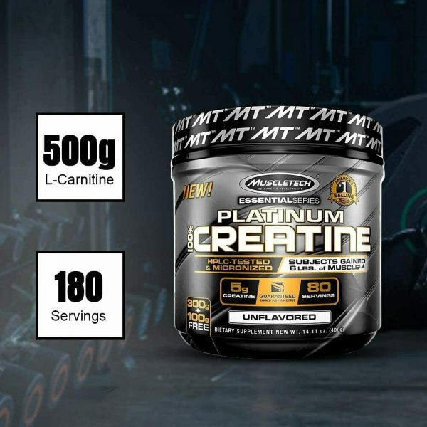 MuscleTech Platinum Creatine Monohydrate Powder, 100% Pure Micronized Creatin... 2