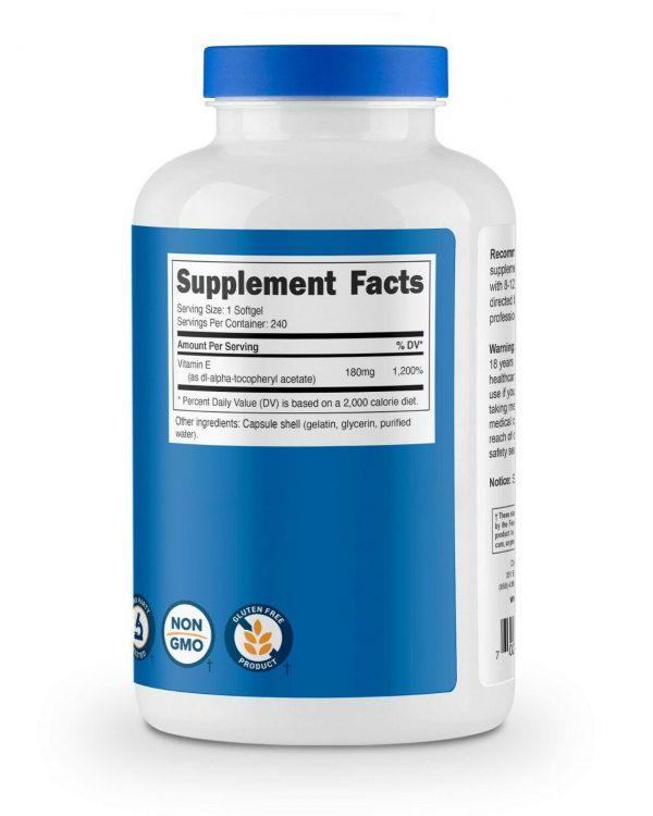 Nutricost Vitamin E 400 IU - 240 Soft Gel Capsules 5