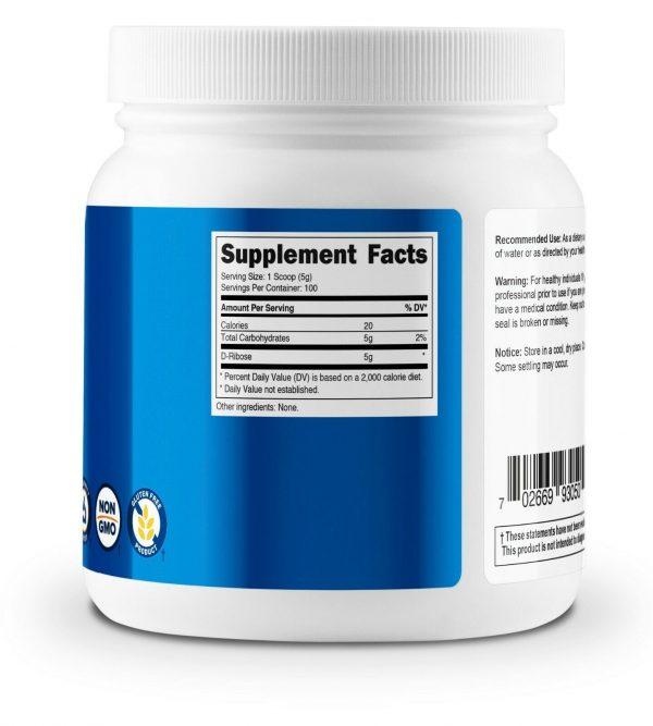 Nutricost Pure D-Ribose Powder 500G - High Quality 100 Servings; 5000mg Per Serv 3