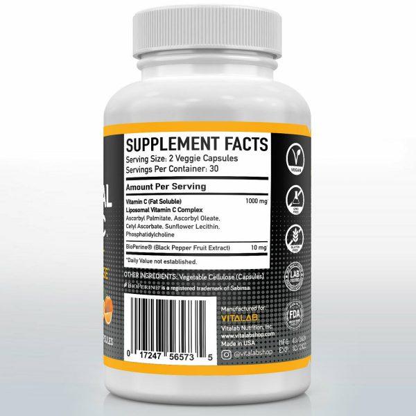 Liposomal Vitamin C 1000mg Capsules High Absorption Vitamin C Pills Supplements 2