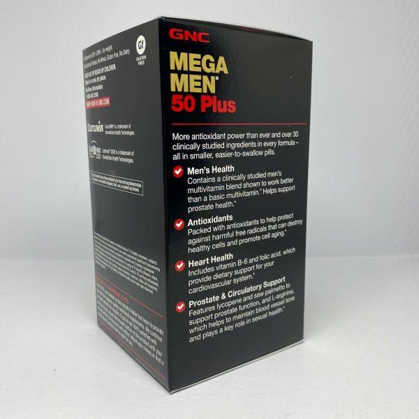 GNC Mega Men 50 Plus 120 Caplets  Free Shipping 3