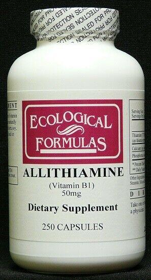 Ecological Formulas - Allithiamine, Vitamin B1, 50 mg, 250 Capsules