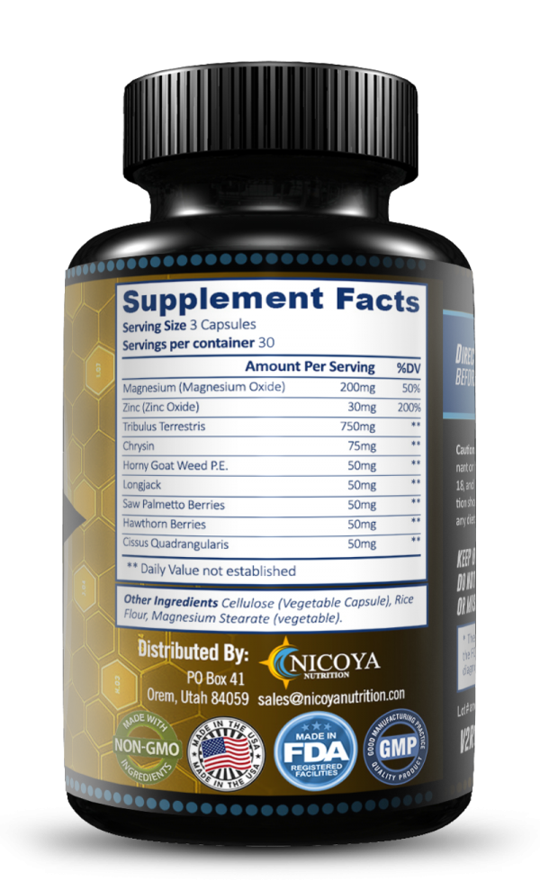 Natural Testosterone Booster - Increase Energy Improve Muscle Strength & Growth 5