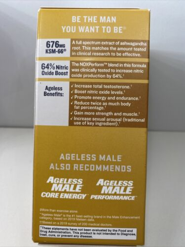 AGELESS MALE MAX, 60 CAPLETS, 30 DAY SUPPLY, 05/2023 2