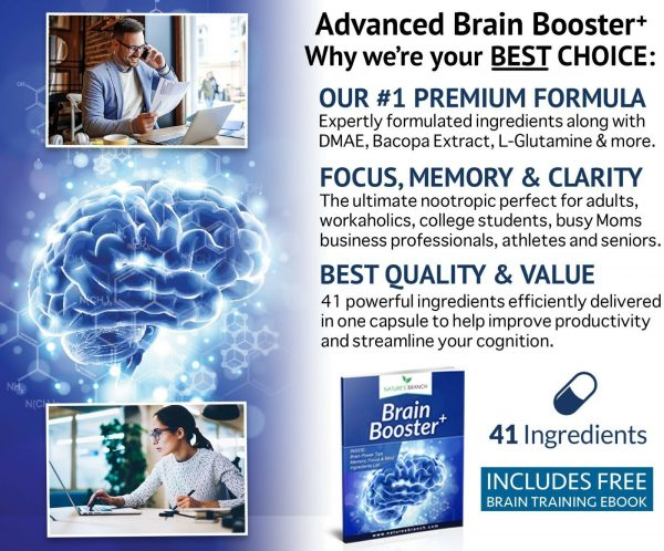 ADVANCED Brain Booster Supplement Memory Focus Mind & Clarity Enhancer Nootropic 2