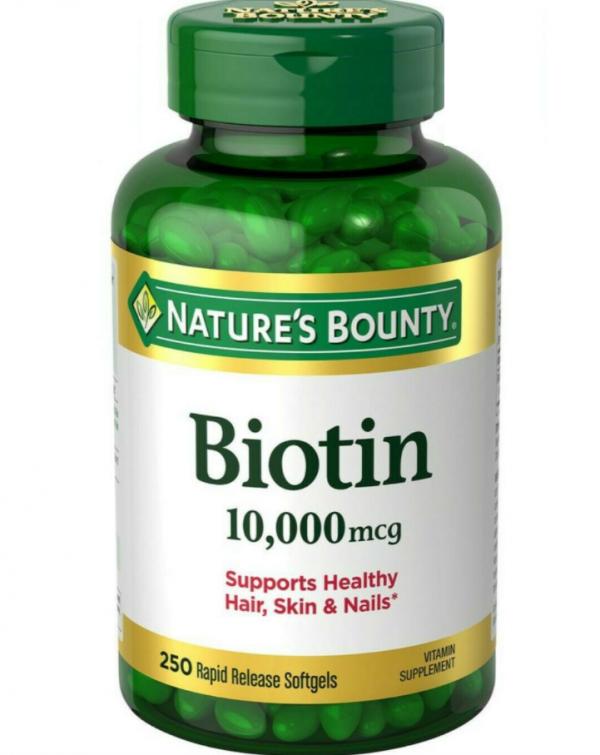 Nature's Bounty Biotin 10,000 mcg, Rapid Release Softgels 250 PILLS
