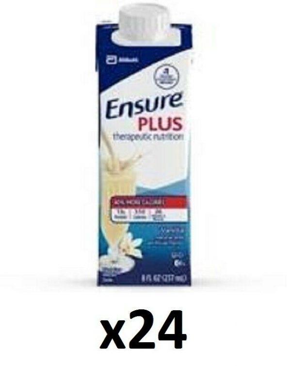 Ensure Plus Vanilla Supplement 8 oz Carton 24 Count