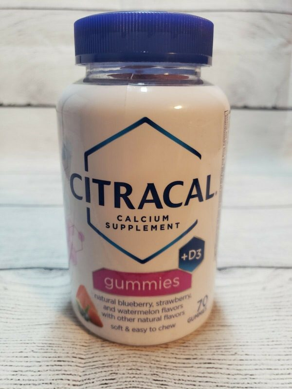 CITRACAL CALCIUM + D3 70 Gummies, Assorted Fruit Flavors BRAND NEW SEALED BOTTLE