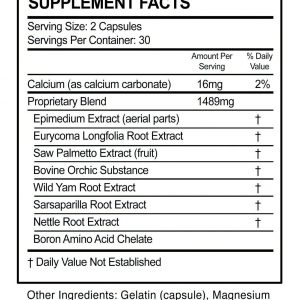 AndroTest - Testosterone Support Matrix - 60 Tablets 1