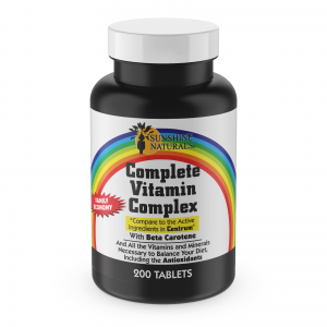 Sunshine Naturals Complete Multi Vitamin Complex 200 Tablets Made in the USA 1