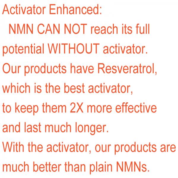NMN β-Nicotinamide Mononucleotide Resveratrol NAD+Booster Anti-Aging Antioxidant 4