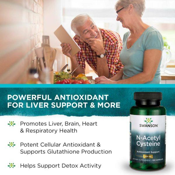 Swanson N-Acetyl Cysteine (NAC) Capsules, 600 mg, 100 Count 3