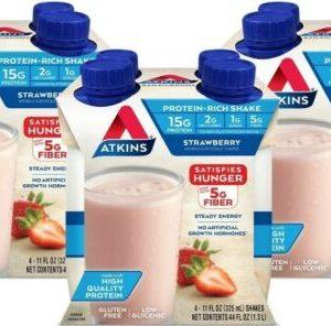 ♨️12 pk Atkins Gluten Free Protein-Rich Shake, Strawberry, Keto Friendly♨️