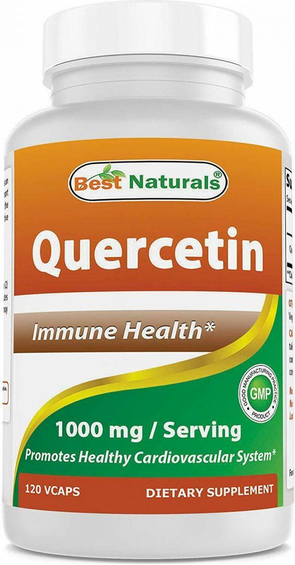 Best Naturals Quercetin 1000 mg/Serving 120 Veggie Capsules