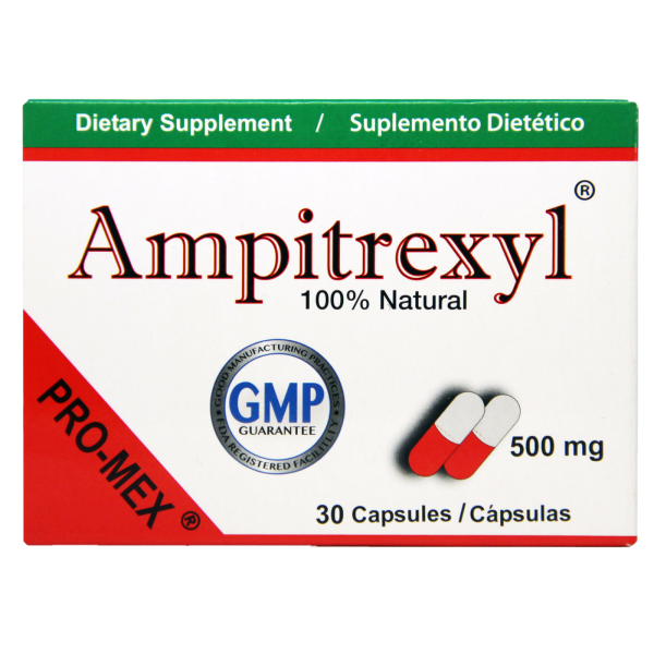 Ampitrexyl Dietary Supplement 500 mg by Promex, 30 Capsules,  Expires 4/23