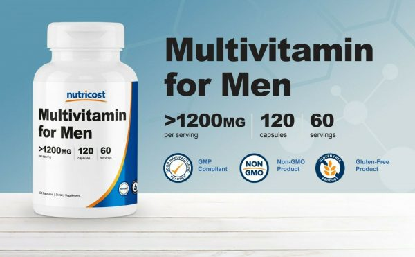 Nutricost Multivitamin for Men 120 Capsules - Vitamins and Minerals for The Heal 1