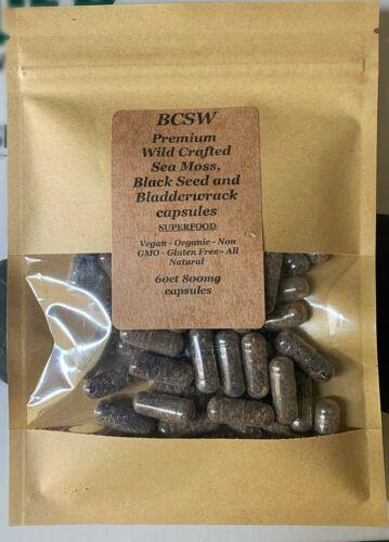 Dr. Sebi Sea Moss/ Bladderwrack/Black Seed Pills - 75 capsules!!!! 1