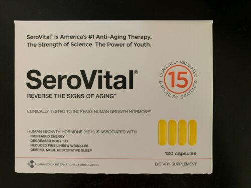 SerovitalHGH 120 Caps, Exp: 10/22, NEW Sealed Box 1