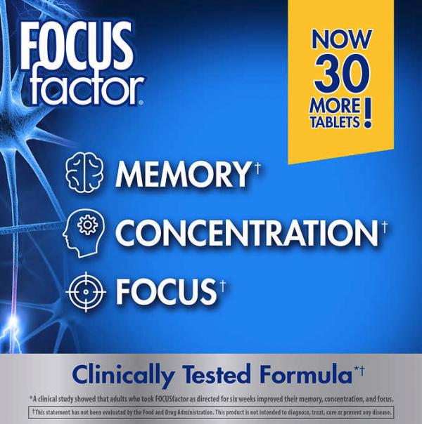 FOCUS factor Dietary Supplement, 180 Tablets 1