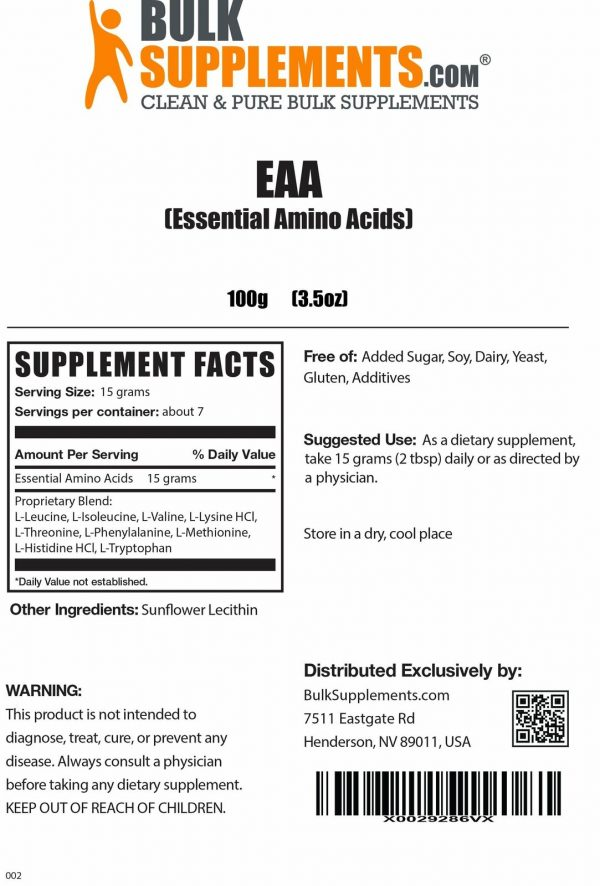 BulkSupplements.com Essential Amino Acids (EAA) 1