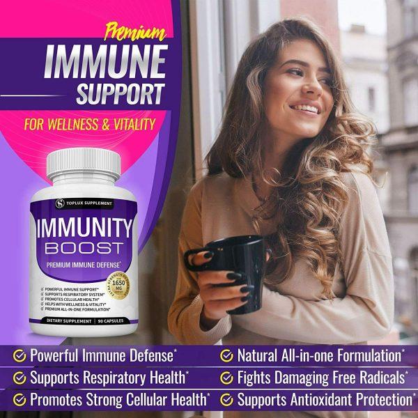 PREMIUM Immune System Booster (180 CAPSULE) Vitamin C +Zinc+Elderberry+Echinacea 5