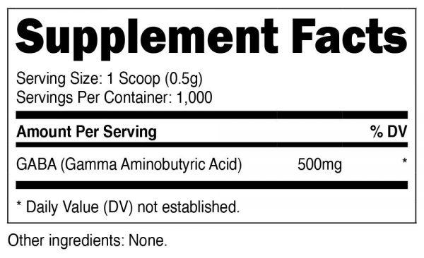 Nutricost GABA Powder 500G - Pure GABA Powder, Non-GMO, Gluten Free 1